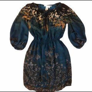 Max Studio Blue Floral Lightweight Dress, Small